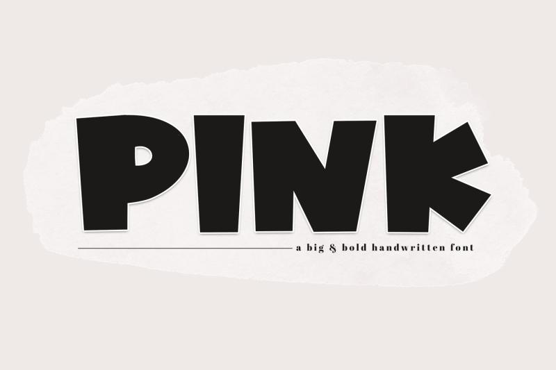 pink-a-bold-handwritten-font