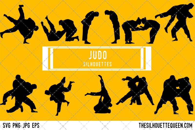 judo-silhouette-vector