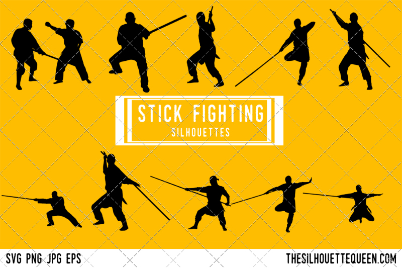 stick-fighting-silhouette-vector