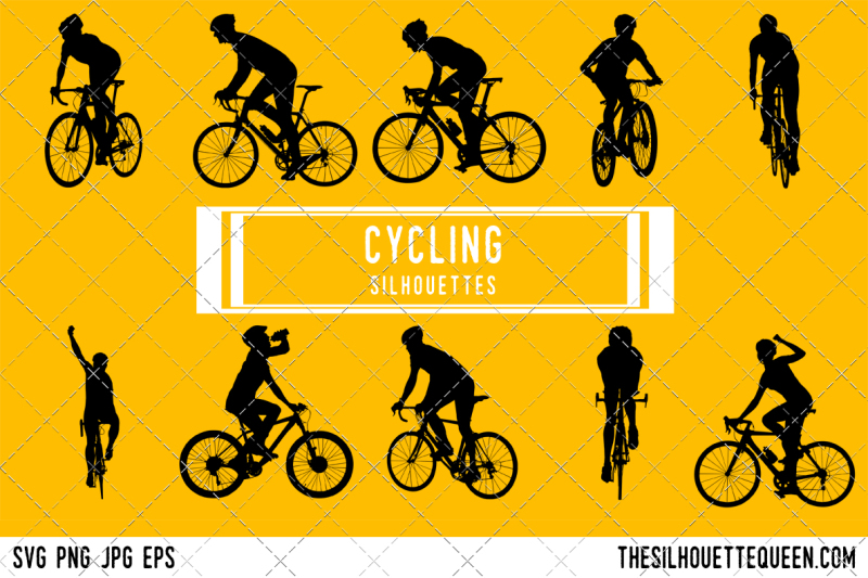 cycling-silhouette-vector