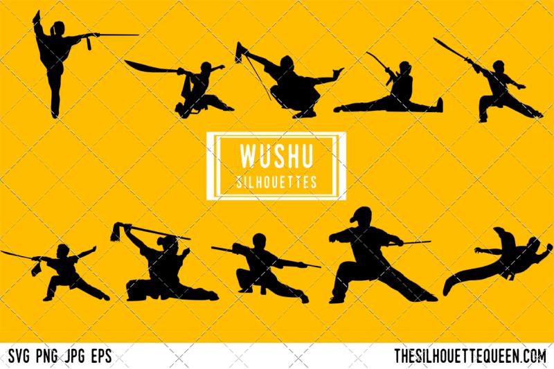 wushu-silhouette-vector