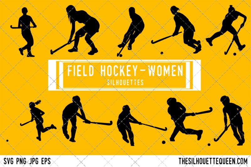 field-hockey-women-silhouette-vector
