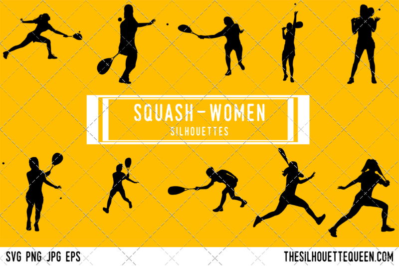 squash-women-silhouette-vector