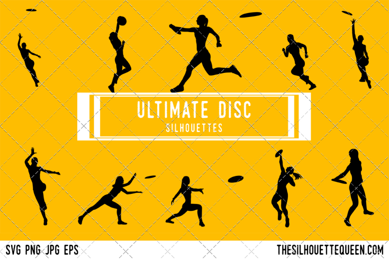 ultimate-disc-silhouette-vector