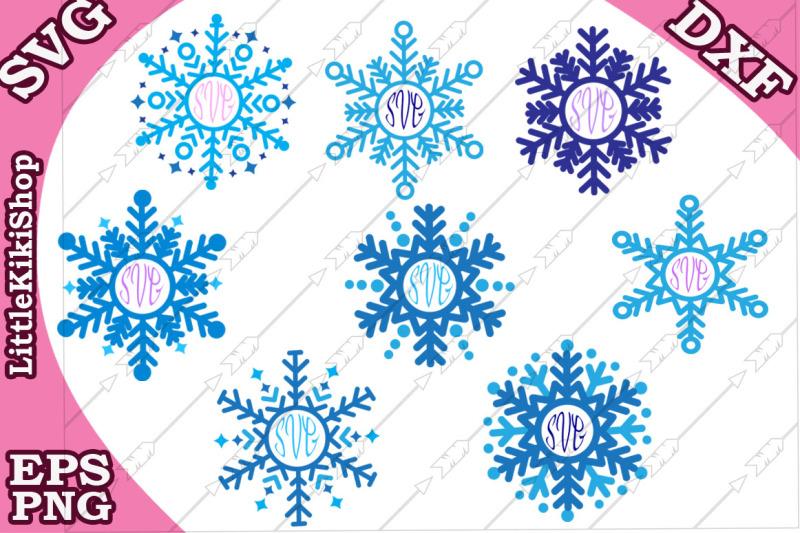 snowflakes-monogram-svg