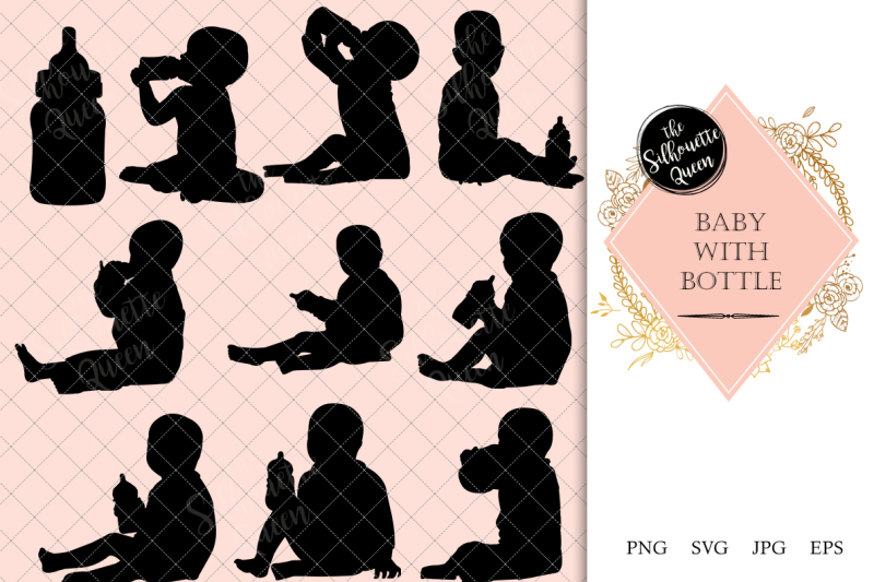 baby-with-bottle-silhouette-vector
