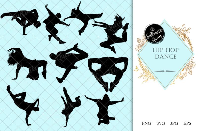 hip-hop-dance-silhouette-vector