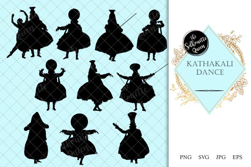 kathakali-dance-silhouette-vector