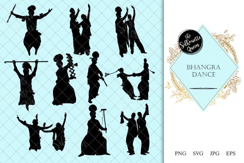 bhangra-dance-silhouette-vector