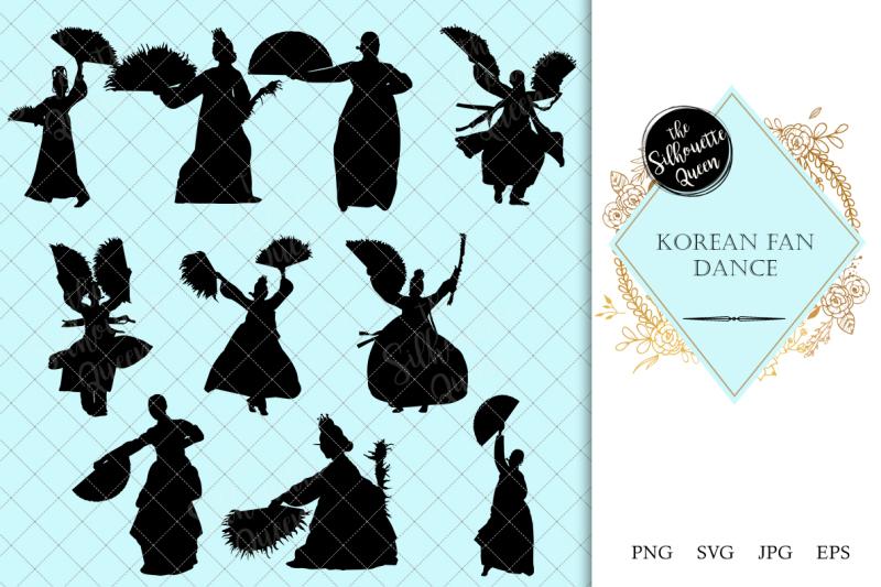 korean-fan-dance-silhouette-vector