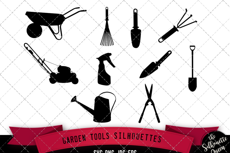 garden-tools-silhouette-vector