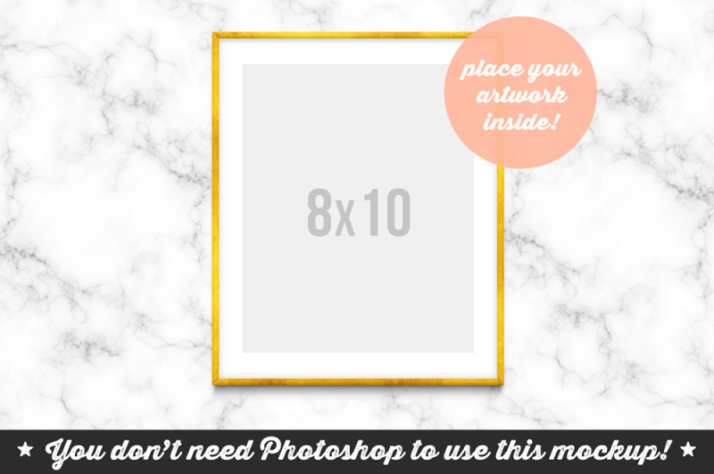 Free Non Photoshop Mockup Frame on the Marble (PSD Mockups)