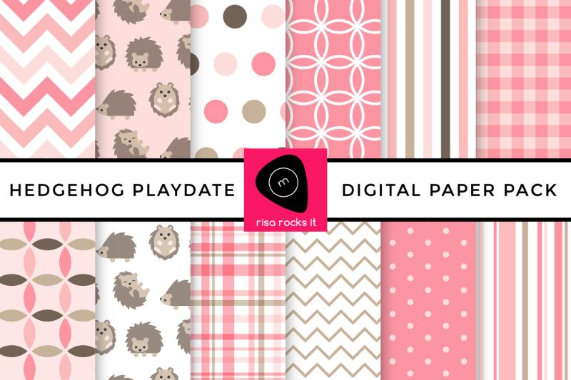 hedgehog-play-date-digital-paper-pack