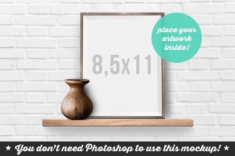 Free Non Photoshop Mockup Frame on the Shelf (PSD Mockups)