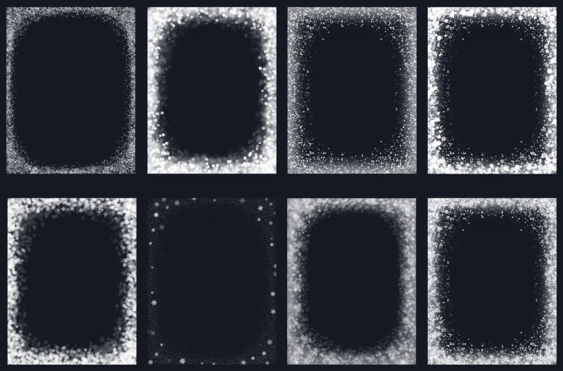 snowflake-border-overlays
