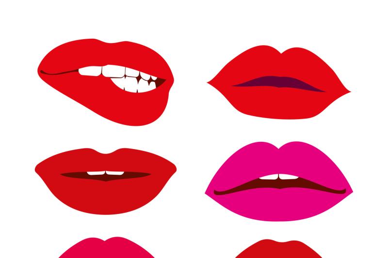 woman-lips-vector-icons-set