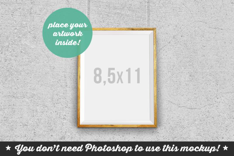 Free Non Photoshop Mockup Hanging Frame (PSD Mockups)