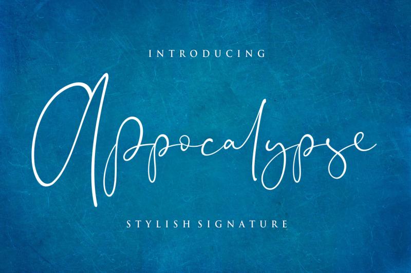 appocalypse-stylish-signature-font