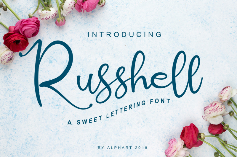 russhell-a-sweet-lettering-font