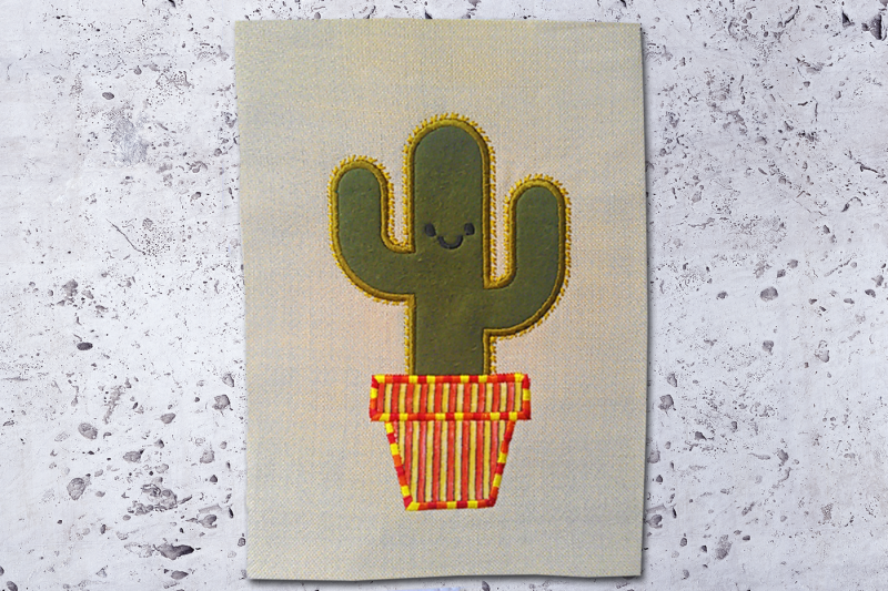 potted-cactus-applique-embroidery