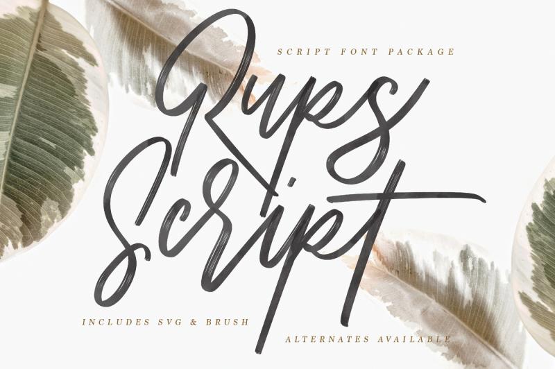 rups-script-brush-font
