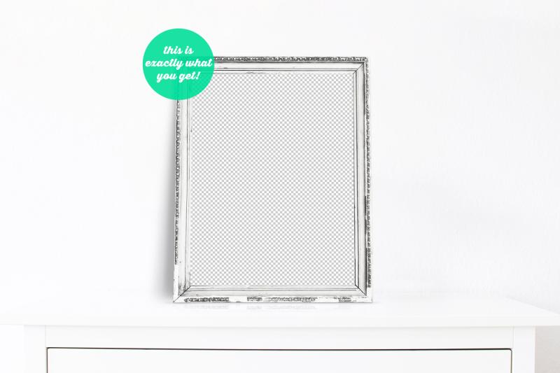 non-photoshop-mocku-frame-on-the-cupboard