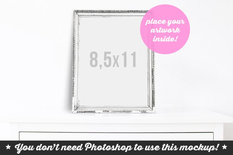 Free Non Photoshop Mocku Frame on the Cupboard (PSD Mockups)