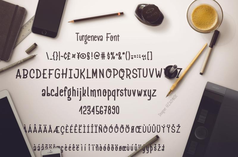 turgeneva-handdrawn-font