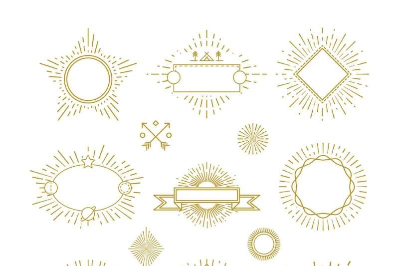 vintage-circle-sunburst-line-emblems-badges-labels-logos-with-sunri