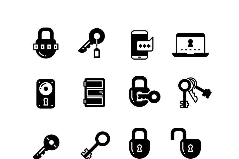 key-and-lock-web-access-security-safe-internet-vector-icons