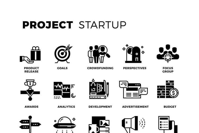 start-up-venture-capital-entrepreneur-vector-icons-set