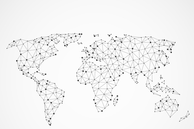 networking-world-map-texture-low-poly-earth-vector-global-communicat