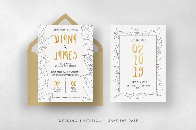 simple-floral-outline-wedding-suite