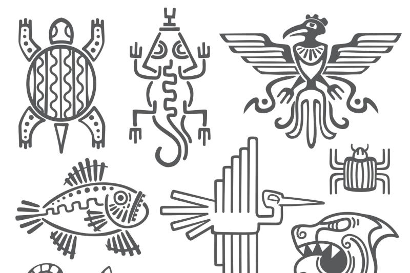 historic-aztec-inca-vector-symbols-mayan-temple-pattern-native-amer