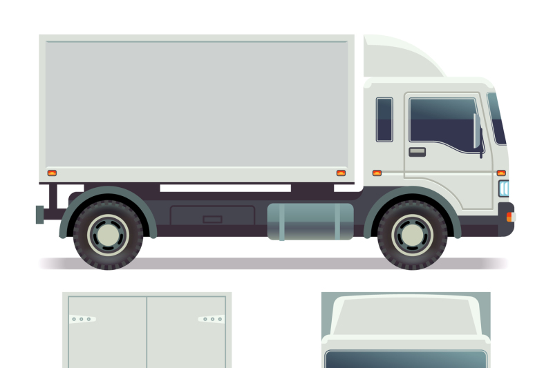 small-truck-front-back-and-side-view-for-cargo-transportation-vector
