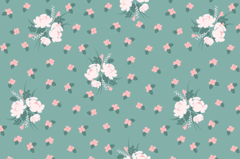 cute-flowers-10-seamless-patterns
