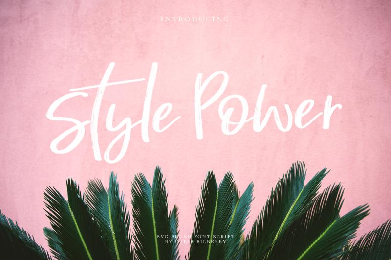 style-power-svg-brush-font