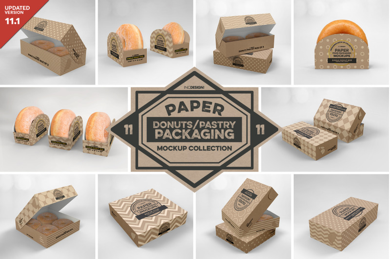 Free VOL 11: Paper Food Box Packaging Mockup Collection (PSD Mockups)