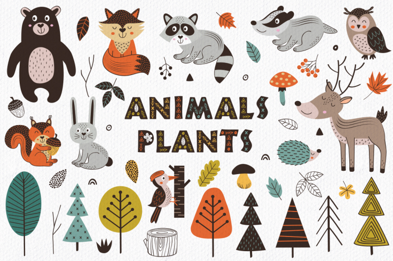forest-animals-in-scandinavian-style