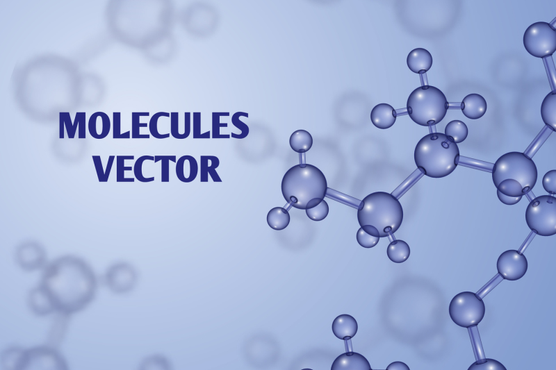 chemical-vector-nanotechnology-background-with-3d-macro-molecules