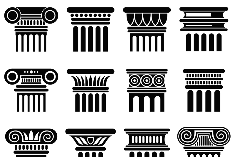 ancient-rome-architecture-column-vector-icons