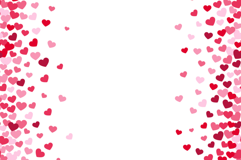 lovely-romance-valentine-white-backgrouns-with-pink-and-red-heart-bord