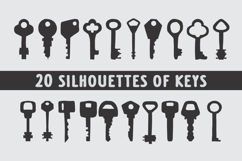 20-keys-silhouettes