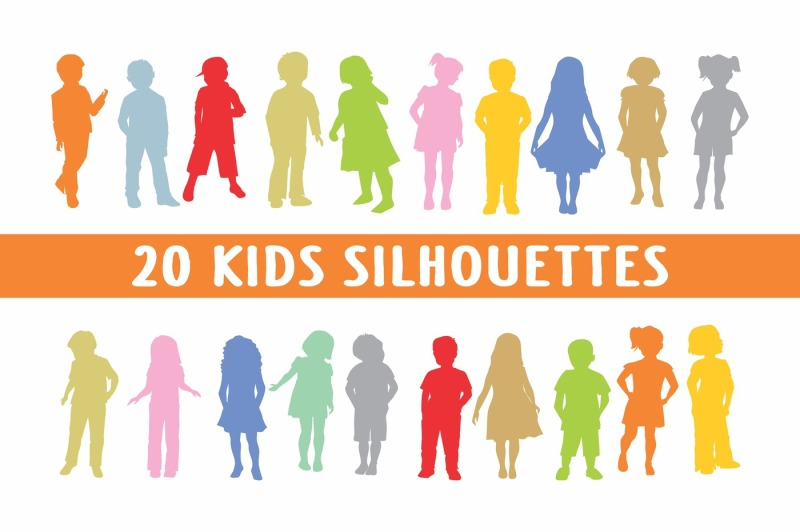 20-kids-silhouettes