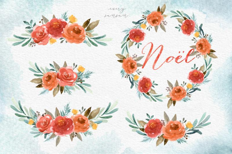 noel-christmas-town-watercolor-set
