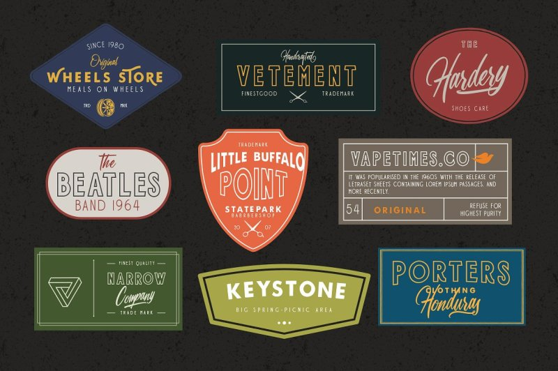 harbour-5-font-family-and-extra-badges-illustration