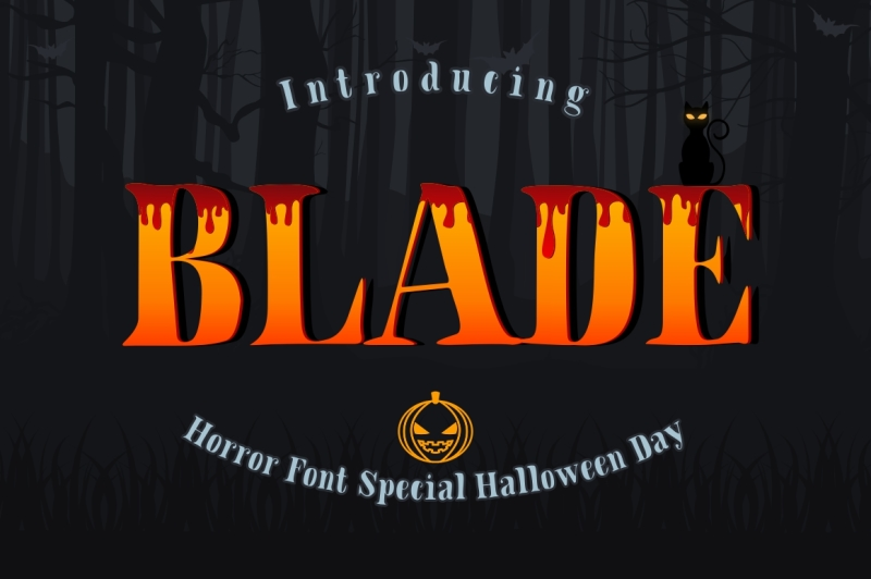blade-hallowen-font