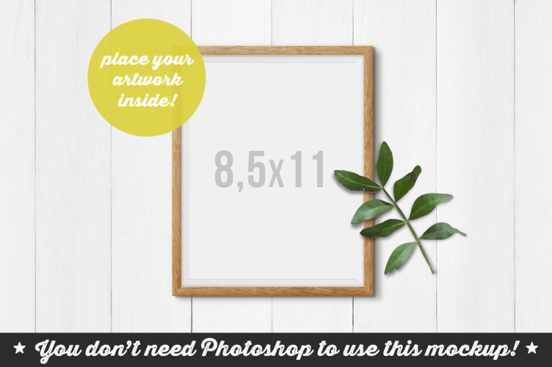 non-photoshop-mockup-frame-on-the-planks