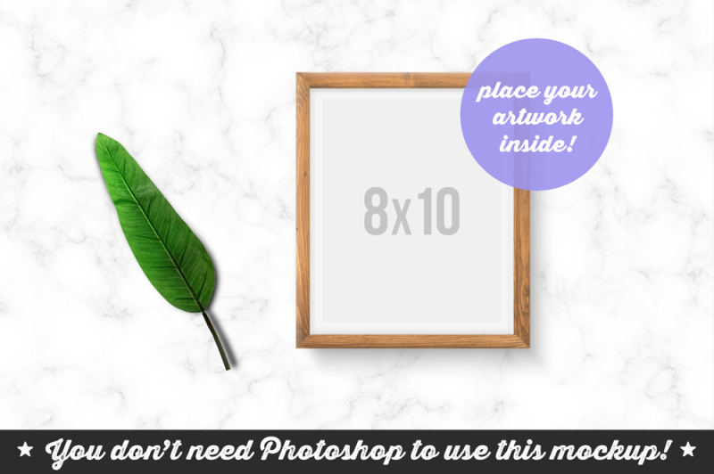 Free Non Photoshop Mockup Frame on the Marble Top (PSD Mockups)