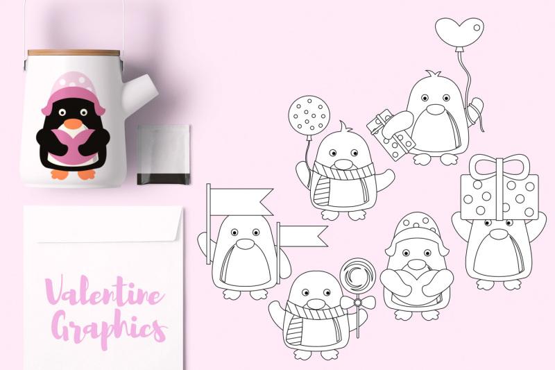 cute-valentine-penguins